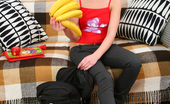 Lil Maya This Naughty Teen So Horny Today She Even Used Banana As A Cock