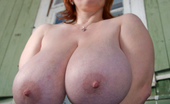 Divine Breasts Ginger Huge Boobs Outside
