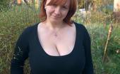 Divine Breasts Ginger Huge Boobs Outside