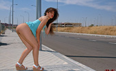 Magic Erotica Brunette Chick Modeling Nude, Playing With A Dildo And Pissing In Urban Locations