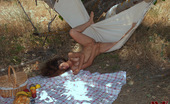 Magic Erotica Idoia Toys Her Pussy With A Banana And A Bottle Of Wine In Her Summer Picnic