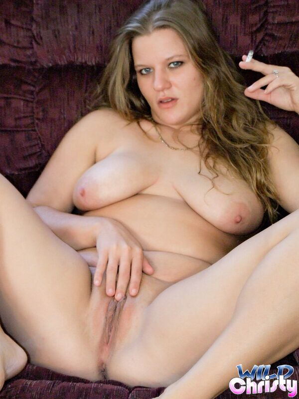 Wild Christy Ponytailed Chubby Teen Christy Showing