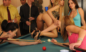 Orgy Sex Parties Pockets & Pussies The Only Fuzzy Thing Around Is The Felt Because The Pussies And Asses Are As Smooth As A Cue Ball! After Some Playful Teasing, Spanking And Flashing, The Host Jay Takes The Party Into The Living Room Where A Rousing Round Of 8 Ball Without The Pool Table
