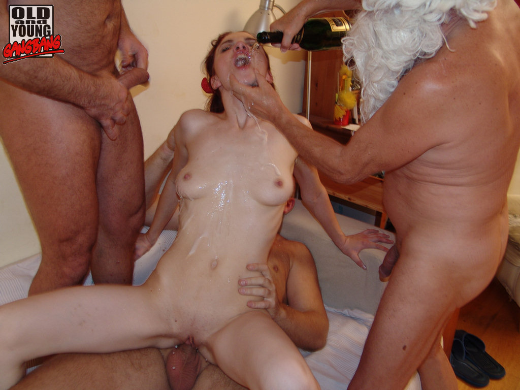 33 oldyoung gang bang with stepfather and 3 friends 7