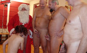 Old And Young Gangbang This Hot Teen Gets Kinked Up By Santa And His Friends