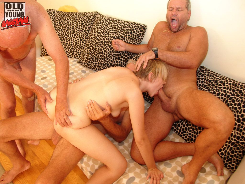 33 oldyoung gang bang with stepfather and 3 friends 5