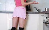 Old Young Anal Dasha Dasha Is Waiting On Her Kitchen Counter Alone In A Pink Outfit Today Dasha Is A Young And Sexy Brunette, And She Is Wearing A Pink Sexy Top And Skirt And Waiting For Her Visitor Today