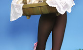 Pin-Up Wow 417828 Sexy Mushroom Picker In Summer Dress And Stockings Does A Naughty Striptease