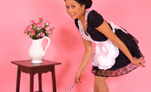 Pin-Up Wow Charming Maid Petra Lily So Makes Her Cleaning Duties For You As Sexy As Possible.