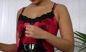 Pin-Up Wow Gorgeous Pin-Up Petra Lily So Strips From Her Smart Secretary Daywear