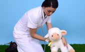 Pin-Up Wow 418033 Sexy Brunette Pin-Up Bryoni-Kate Williams Strips As A Naughty Vet!