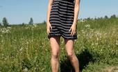 Pee Hunters Super-Beautiful Blond Girl Piddling On A Meadow