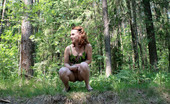Pee Hunters Adorable Red-Haired Shortie Takes A Leak In Forest