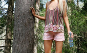 Pee Hunters Blond Teen Drinks Too Much Water And Pees Alfresco