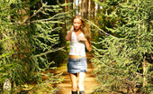 Pee Hunters Blonde Puss With Gorgeous Body Pees On Forest Path