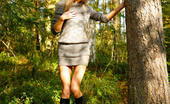 Pee Hunters Exciting Blonde Cutie Goes Into Bushes For A Piss