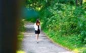 Pee Hunters Leggy Starlet Empties Her Bladder In The City Park
