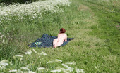 Pee Hunters Nude Sunbather Squats Down To Take A Leak In Park