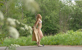Pee Hunters Nude Cutie Tinkles On The Shoulder Of Country Road