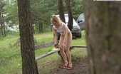 Pee Hunters Prankish Girl Pees Onto A Bench At A Camping Site