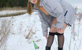 Pee Hunters Spying On Peeing Teen