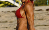 Muscularity Jeanette Jarnes Ripped Red Fit I Met Mother Of 2, Jeannette Jarnes, At The Universe Contest In Miami, Florida. Jeannette Had Never Shot Before. We Hit South Beach Early In The Morning, And This Newbie Tore It Up In A Red Shiny Bikini Like A Pro. She Has Fun Flexing Her L