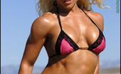 Muscularity Mary Schmitt Teasing Taunting NPC Figure And Bikini Competitor, Mary Flew From Colorado To Utah To Shoot On The Salt Lake Beds. This Is The First Of Many Shoots With, My Now Good Friend, Mary. She Teases And Taunts In A Hot Pink And Black Bikini, And Shows Plenty Of H