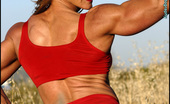 Muscularity Emery Miller Erotic Muscles In Red In This Second Set, Emery Wears A Red Two-Piece Get Up, Flexes Her Powerful Muscles, Takes Off Her Top, Pulls Down Her Bottoms, And Gets Nearly Naked.