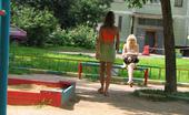 Hot Pissing 419694 Hot Swinging Pissing Lover Of Public Peeing Lifts Up Her Skirt And Leaks While Teetering