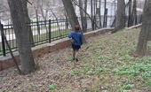 Hot Pissing Autumn Piss Voyeur Girl In Stockings Caught On Spy Cam While Peeing In The Autumn Street