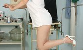 Exposed Nurses Ester Nurse Uniform Fetish Ester Vaginal Speculum Play On Gynochair