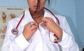 Exposed Nurses Carmen Perverted Nurse Carmen Masturbating With Big Sex Toy And Specula At Gyno Clinic