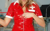 Exposed Nurses Candie Naughty Nurse Uniform Candie Vulva Spreading With Gyno Tools