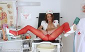 Exposed Nurses Lidka Handsome Nurse Lidka Opens Her Piss Hole Wide With Specula On Gynochair