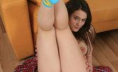 Flower Panties Girlie With Amazing Body Poses In Her Cute Panties