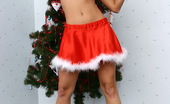 Flower Panties Little Stripper Posing In A Sexy Christmas Outfit
