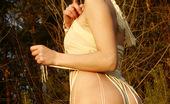 Flower Panties Hot Leggy Starlet Pulls Her Panties Down Outdoors