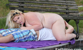 Fat Sitting 422384 BBW Rebecca Punishes Her Slave By The Pool