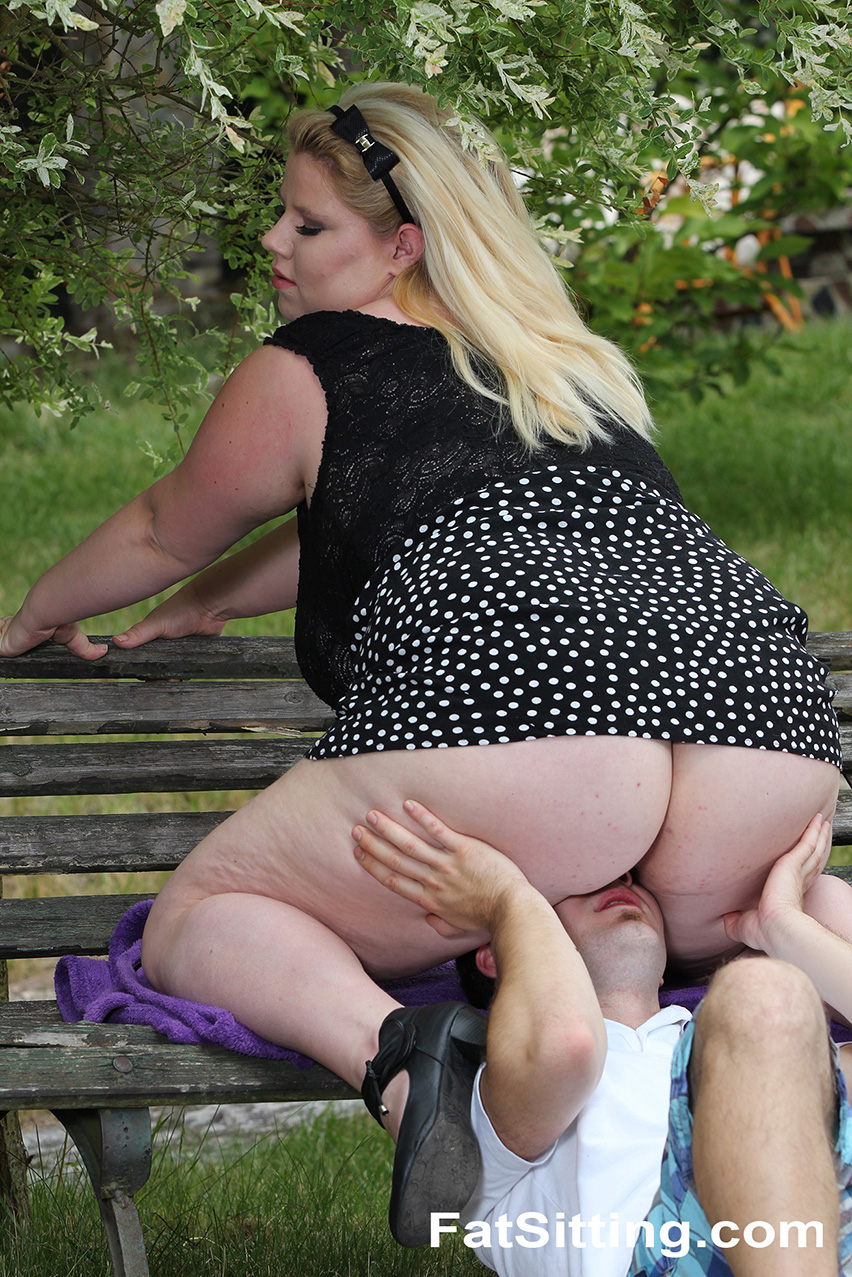 Fat Sitting 422386 BBW Rebecca Tortures Her Submissive Slave