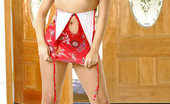 Thai Chix Nautica Thorn Stripping Red Oriental Dress