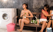 Thai Chix Three Thai Babes Doing Laundry
