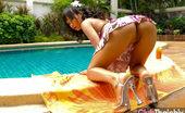 Thai Chix Thai Nicha Stripping By Pool