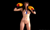 Thai Chix Shanya Posing Nude In Boxing Cloves