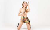 Thai Chix Babe Grace Posing Topless With A Sword