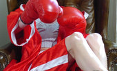 Sexy Olympics Sexy Boxing Teen Girl Victoria Poses Topless