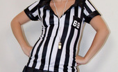 Sexy Olympics Cute American Football Teen Ref Heidi Takes Off Her Uniform