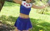 Sexy Olympics Sexy Cheerleader Teen Girl Nora Browns Her Tits In The Sun