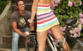 Sexy Olympics Nasty Anal Sex On The Bike With Blonde Denisa And Thomas