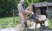 Oldje 424240 Hard Working Old Cock Sweet Tanned Young Babe At Only 22 Years Old Gets Naughty In A Sex Adventure At The Countryside With An 63 Years Old Man! Oldje Was Trying To Do His Job When This Hot Teen Comes Around And Whisks Him Of His Feet With Her Beauty And L