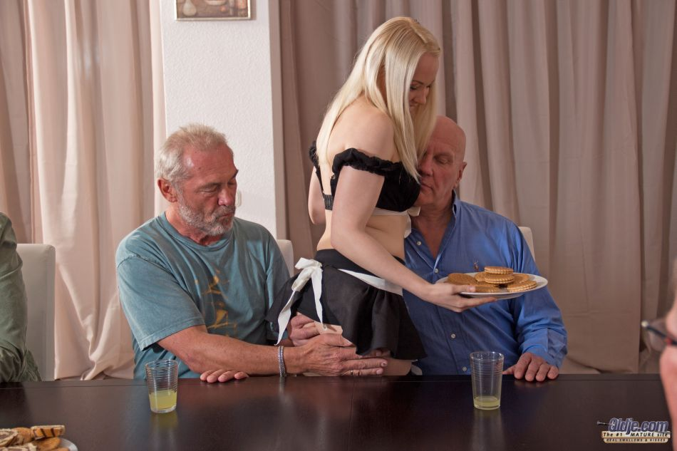 Oldje 424245 Old School Gangbang Good Girl Gone Wild! Lolita Taylor Gone Crazy On A Meeting Of Seven Old Men. Beautiful Blonde Girl Felt Arousal When She Saw The 7 Old Men And Wanted To Feel Their Old Dicks Deep Inside Her Nicely Curved Body So She Strips In Front Of